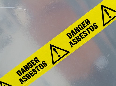 Downs construction asbestos certified abatement techs for Asbestos in drywall canada