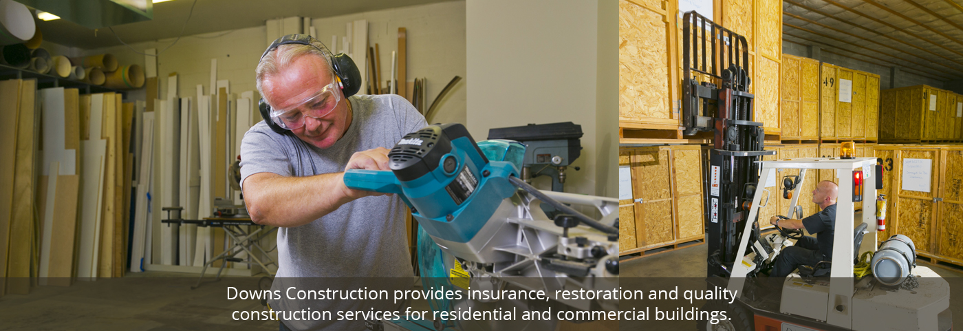 Downs Construction provides insurance, restoration and quality construction services for residential and commercial buildings. (Photo: Carpentry Services, Contents Restoration)